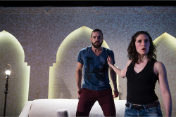 Figure 3. The cast (Carlos Gonzalez-Vio and Dalal Badr) tries to restage the play. (Photo: James Heaslip.)