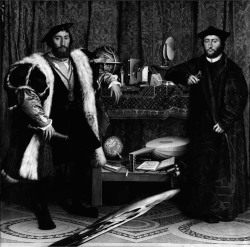 Fig. 1. Hans Holbein the Younger, The Ambassadors (1533) National Portrait Gallery, London