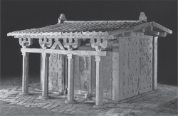 Figure 2.2. Carved stone chamber found in the tomb of Song Shaozu (d. 477) at Datong, Shanxi (China); height: 2.28 m. After Datong shi kaogu yanjiusuo and Liu Junxi, eds., Datong Yanbei shiyuan Bei Wei mu qun (Beijing: Wenwu chubanshe, 2008), plate 51.