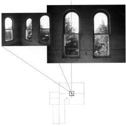 Figure 13. Plan diagram of the cupola which, in place of a central window's more panoramic view, offers the viewer a blind center.