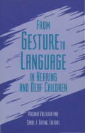 From Gesture to Language in Hearing and Deaf Children Cover