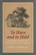 To Have and to Hold: Slave Work and Family Life in Antebellum South Carolina