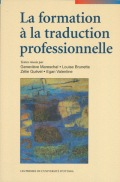 La Formation à la traduction professionnelle Cover