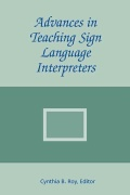 Advances in Teaching Sign Language Interpreters Cover
