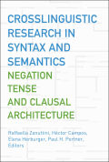 Crosslinguistic Research in Syntax and Semantics Cover