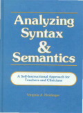 Analyzing Syntax and Semantics  Cover