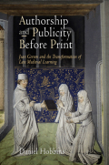 Authorship and Publicity Before Print Cover