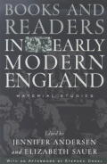 Books and Readers in Early Modern England Cover