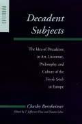 Decadent Subjects Cover