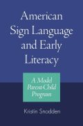 American Sign Language and Early Literacy Cover
