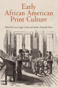 Early African American Print Culture Cover