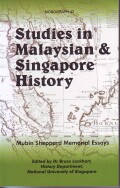 Studies in Malaysian and Singapore History Cover