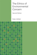 Ethics of Environmental Concern Cover