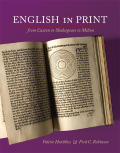 English in Print from Caxton to Shakespeare to Milton Cover