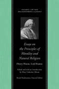 Essays on Principles of Morality and Natural Religion Cover