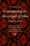 Commentary on the Gospel of John, Chapters 6-12 Cover