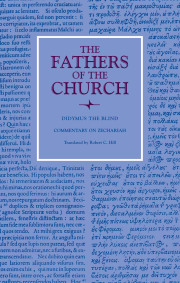 Commentary on Zechariah (The Fathers of the Church, Volume 111)
