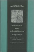 Observations upon Liberal Education Cover