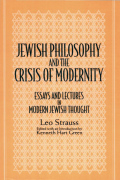 Jewish Philosophy and the Crisis of Modernity Cover