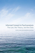 Informed Consent to Psychoanalysis: Cover