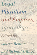 Legal Pluralism and Empires, 1500-1850 cover