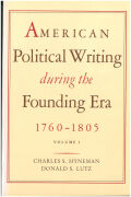 American Political Writing During the Founding Era Cover