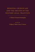 Medieval Church Law and the Origins of the Western Legal Tradition Cover