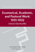 Ecumenical, Academic, and Pastoral Work Cover