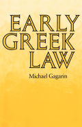 Early Greek Law Cover