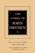The Works of John Dryden, Volume XIII Cover