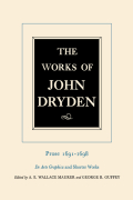The Works of John Dryden, Volume XX: Prose 1691-1698 De Arte Graphica and Shorter Works