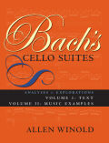 Bach's Cello Suites, Volumes 1 and 2 Cover