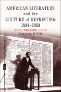 American Literature and the Culture of Reprinting, 1834-1853 Cover