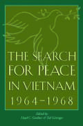 Search for Peace in Vietnam, 1964-1968 Cover