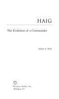 Haig: The Evolution of a Commander