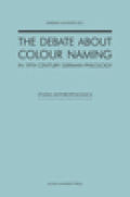 The Debate about Colour Naming in 19th Century German Philology. Cover
