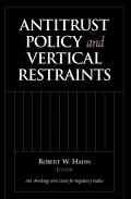 Antitrust Policy and Vertical Restraints Cover