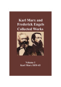 Marx & Engels Collected Works Vol 01
