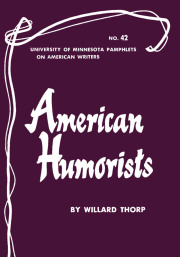American Humorists - American Writers 42
