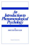 An Introduction to Phenomenological Psychology Cover