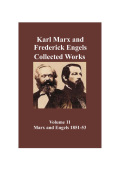 Marx & Engels Collected Works Vol 11 Cover