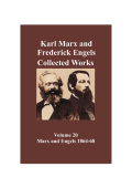 Marx & Engels Collected Works Vol 20 Cover