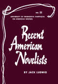 Recent American Novelists - American Writers 22