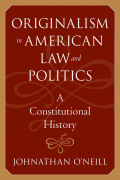 Originalism in American Law and Politics Cover