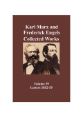 Marx & Engels Collected Works Vol 39: Marx and Engels:1852-1855