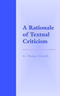 A Rationale of Textual Criticism cover