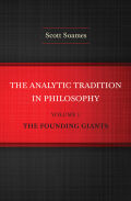 The Analytic Tradition in Philosophy, Volume 1 Cover