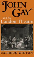 John Gay and the London Theatre Cover