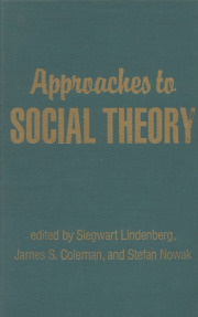 Approaches to Social Theory