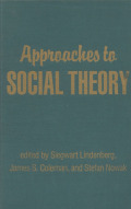 Approaches to Social Theory Cover
